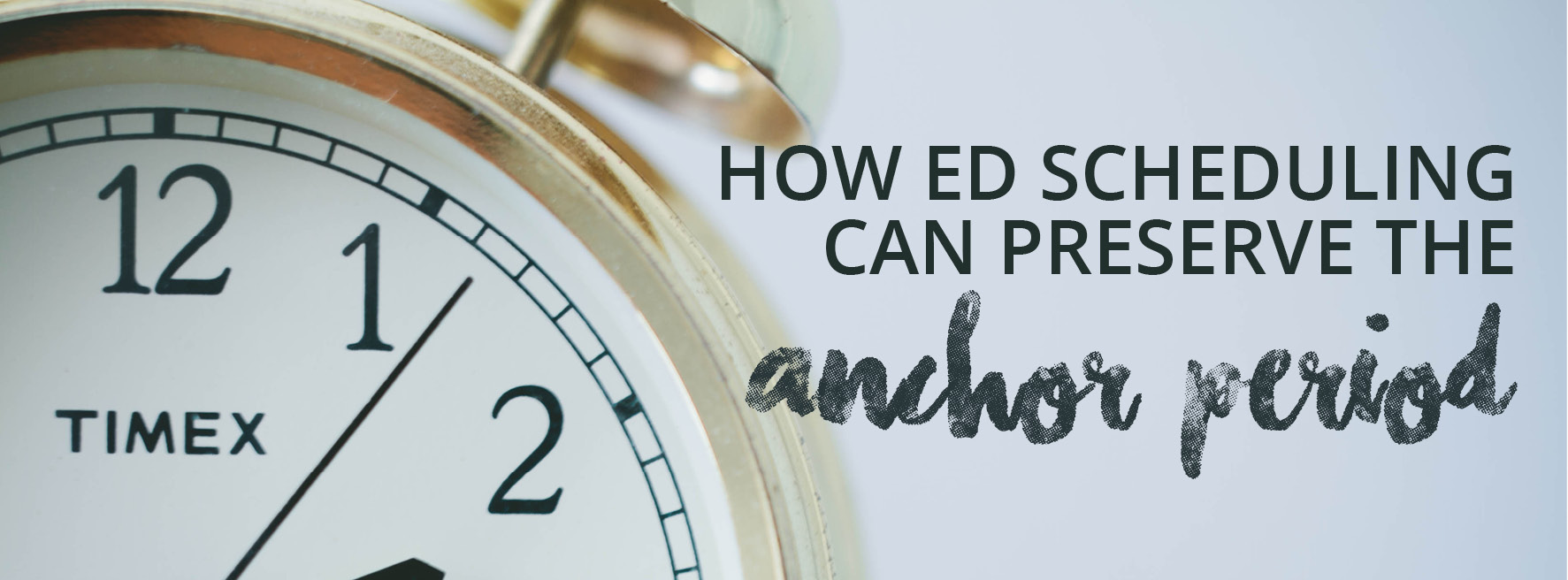 How ED Scheduling Can Preserve the Anchor Period