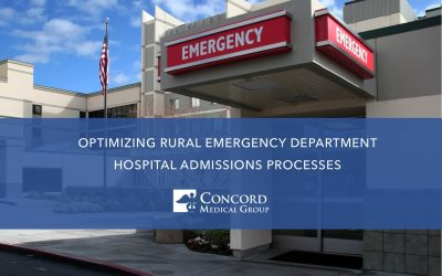Optimizing Rural Emergency Department Hospital Admissions Processes